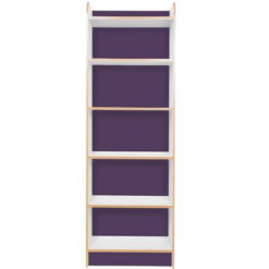 KubbyClass-Polar-School-Library-Slimline-Single-Sided-Bookcase-Purple-1750mm-High-Nobis-Education-Furniture
