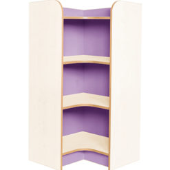 Kubbyclass-Polar-School-Library-Internal-Corner-Bookcase-1000mm -High-Lilac-Nobis-Education-Furniture