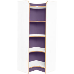 Kubbyclass-Polar-School-Library-Internal-Corner-Bookcase-1500mm -High-Purple-Nobis-Education-Furniture