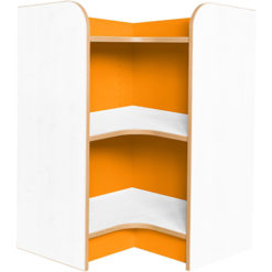 Kubbyclass-Polar-School-Library-Internal-Corner-Bookcase-750mm -High-Orange-Nobis-Education-Furniture