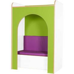Kubbyclass-Polar-School-Library-Reading-Nook-with-Pad-1500mm-High-Lime-Green-Nobis-Education-Furniture
