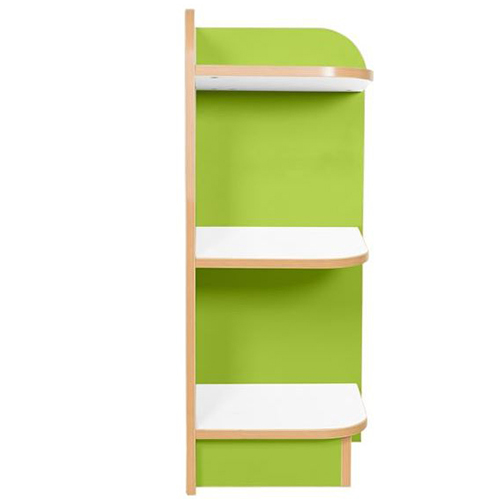 Right-End-Bookcase-Polar-Kubby-Class-Lime-Green-750mm-Nobis-Education-Furniture