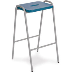 Beech-and-MDF-Colour-Stained-Flat-Top-Classroom-Stacking-Stool-430mm-High-Blue-Nobis-Education-Furniture