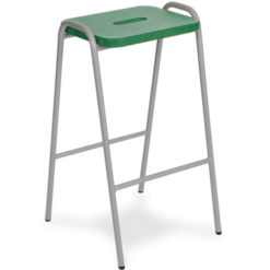 Beech-and-MDF-Colour-Stained-Flat-Top-Classroom-Stacking-Stool-525mm-High-Green-Nobis-Education-Furniture
