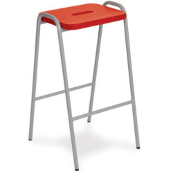 Beech-and-MDF-Colour-Stained-Flat-Top-Classroom-Stacking-Stool-610mm-High-Red-Nobis-Education-Furnitured
