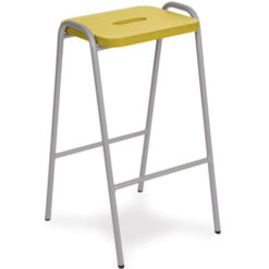 Beech-and-MDF-Colour-Stained-Flat-Top-Classroom-Stacking-Stool-685mm-High-Yellow-Nobis-Education-Furniture