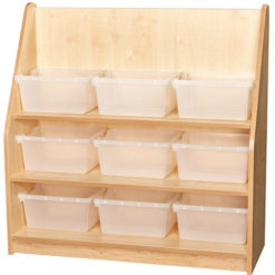 Early-Years-1m-High-Library-Bookcase-9-Trays-Clear-Nobis-Education-Furniture