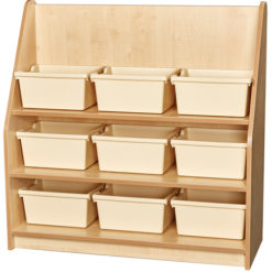 Early-Years-1m-High-Library-Bookcase-9-Trays-Magnolia-Nobis-Education-Furniture