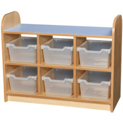 Early-Years-2-Tier-Open-Back-Storage-Shelving-Cube-Unit-6-Trays-Clear-Nobis-Education-Furniture