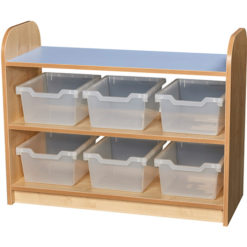 Early-Years-2-Tier-Open-Back-Storage-Shelving-Unit-6-Trays-Clear-Nobis-Education-Furniture