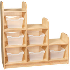 Early-Years-3-Tier-Stepped-Storage-Shelving-Unit-6-Trays-Clear-Nobis-Education-Furniture