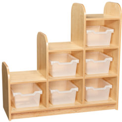 Early-Years-3-Tier-Stepped-Storage-Shelving-Unit-6-Trays-Clear-Right-Hand-Nobis-Education-Furniture