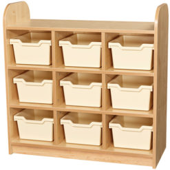 Early-Years-Low-Level-3-Tier-Storage-Shelving-Cube-Unit-with-Back-9 -Tray-Clear-Nobis-Education-Furniture