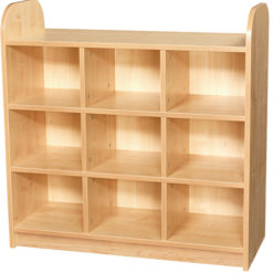 Early-Years-Low-Level-3-Tier-Storage-Shelving-Cube-Unit-with-Back-Nobis-Education-furniture