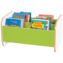 Kubbyclass-Polar-Low-Double-School-Library-Book-Browser-420mm-High-Lime-Green-Nobis-Education-Furniture