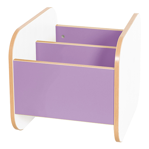 Kubbyclass-Polar-Low-Single-School-Library-Book-Browser-420mm -High-Lilac-Nobis-Education-Furniture
