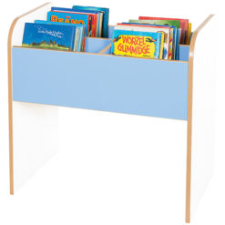 Kubbyclass-Polar-Tall-Double-School-Library-Book-Browser-720mm-High-Light-Blue-Nobis-Education-Furniture