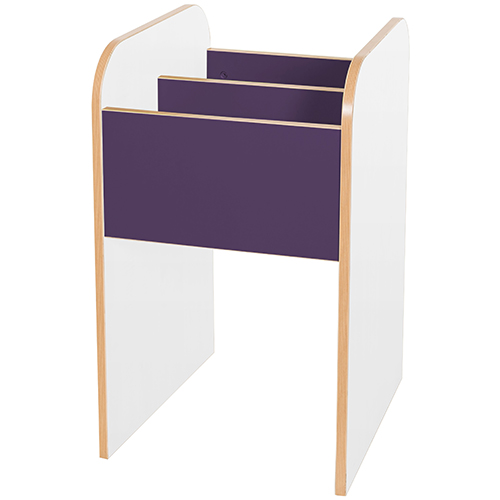 Kubbyclass-Polar-Tall-Single-School-Library-Book-Browser-720mm-High-Purple-Nobis-Education-Furniture
