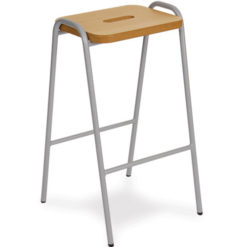 Lacquered-Flat-Top-Classroom-Stacking-Stool-430mm-High-Nobis-Education-Furniture