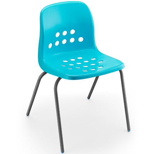 Pepperpot-Polypropylene-Classroom-Stacking-Chair-460mm-High-Turquoise-Blue