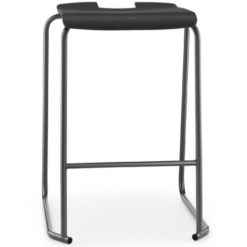 SE-Ergonomic-Polypropylene-Classroom-Stacking-Stool-430mm-High-Black-Nobis-Education-Furniture