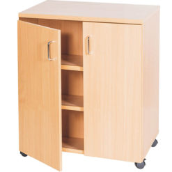 School-Classroom-Mobile-Static-Double-Storage-Cupboard-1107mm-High-Nobis-Education-Furniture