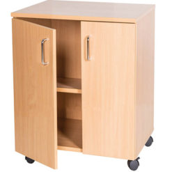 School-Classroom-Mobile-Static-Double-Storage-Cupboard-615mm-High-Nobis-Education-Furniture