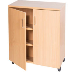 School-Classroom-Mobile-Static-Double-Storage-Cupboard-779mm-High-Nobis-Education-Furniture