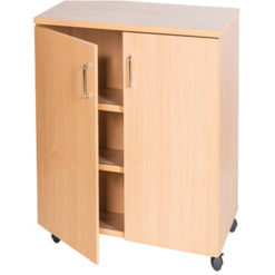 School-Classroom-Mobile-Static-Double-Storage-Cupboard-861mm-High-Nobis-Education-Furniture