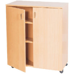 School-Classroom-Mobile-Static-Double-Storage-Cupboard-943mm-High-Nobis-Education-Furniture