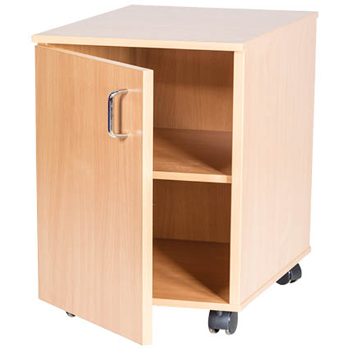School Classroom Mobile or Static Single Storage Cupboard - 533mm High