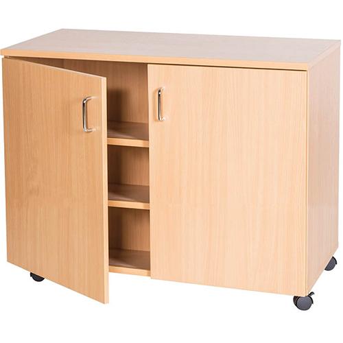 School-Classroom-Mobile-Static-Triple-Storage-Cupboard-861mm-High-Nobis-Education-Furniture