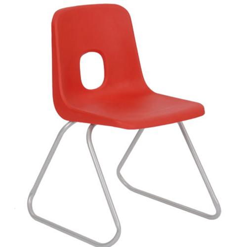 Series-E-Polypropylene-Classroom-Chair-380mm-Skid-Base-Red-Nobis-Education-Furniture