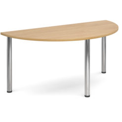 The-Classroom-Deluxe-Semi-Circle-Meeting-Table-Chrome-Legs-Oak-Nobis-Education-Furniture