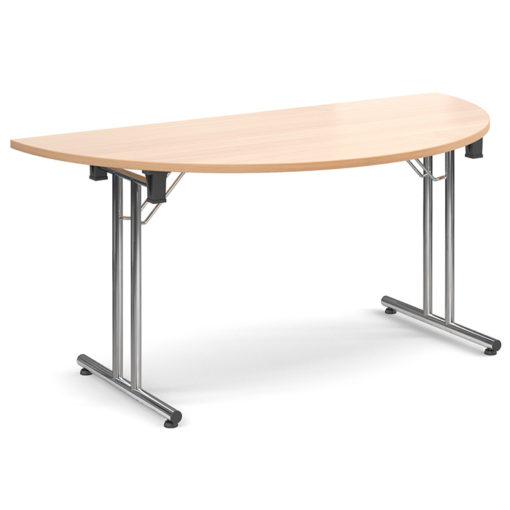 The-Classroom-Deluxe-Semi-Circle-Meeting-Table-Folding -Legs-Beech-Nobis-Education-Furniture