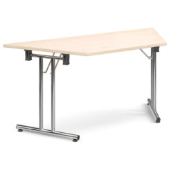 The-Classroom-Deluxe-Trapezoidal-Meeting-Table-Folding-Legs-Maple-Nobis-Education-Furniture