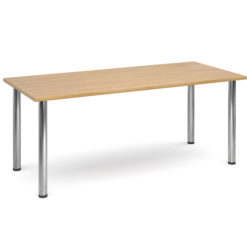 The-Classroom-Rectangular-Deluxe-Meeting-Table-Chrome-Legs-Oak-Nobis-Education-Furniture