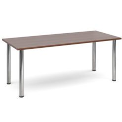 The-Classroom-Rectangular-Deluxe-Meeting-Table-Chrome-Legs-Walnut-Nobis-Education-Furniture