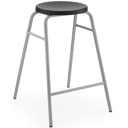 The-Polypropylene-Round-Top-Classroom-Stacking-Stool-430mm-High-Black-Nobis-Education-Furniture