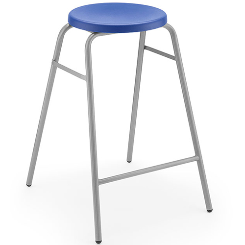 The-Polypropylene-Round-Top-Classroom-Stacking-Stool-525mm-High-Blue-Nobis-Education-Furniture