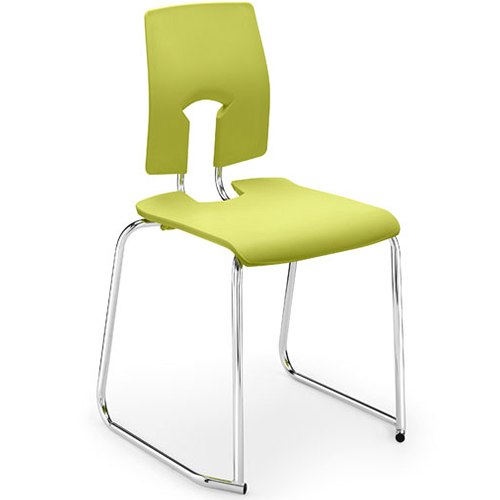 The-SE-Perfect-Posture-Classroom-Skid-Base-Stacking-Chair-430mm-High-Leaf-Green-Nobis-Education-Furniture