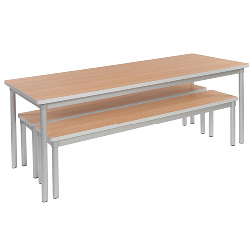 Awe Inspiring The Enviro School Canteen Rectangle Table And 2 Benches 1800Mm Long Ocoug Best Dining Table And Chair Ideas Images Ocougorg