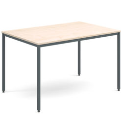 Rectangular-Flexi-Classroom-Table-with-Graphite-Frame-1200-x-800mm-Maple-Nobis-Education-Furniture