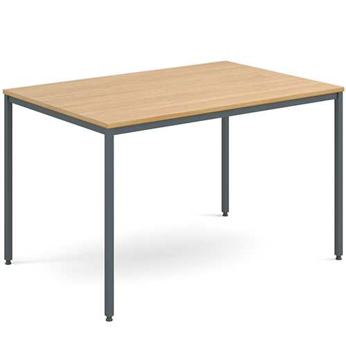 Rectangular-Flexi-Classroom-Table-with-Graphite-Frame-1200-x-800mm-Oak-Nobis-Education-Furniture