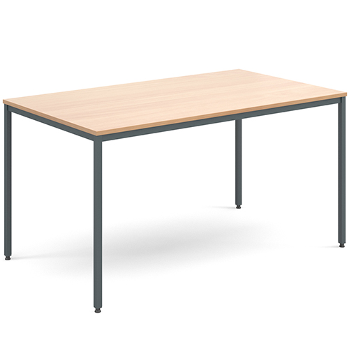 Rectangular-Flexi-Classroom-Table-with-Graphite-Frame-1400-x-800mm-Beech-Nobis-Education-Furniture