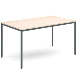 Rectangular-Flexi-Classroom-Table-with-Graphite-Frame-1400-x-800mm-Maple-Nobis-Education-Furniture