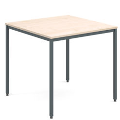 Rectangular-Flexi-Classroom-Table-with-Graphite-Frame-800mm-Square-Maple-Nobis-Education-Furniture