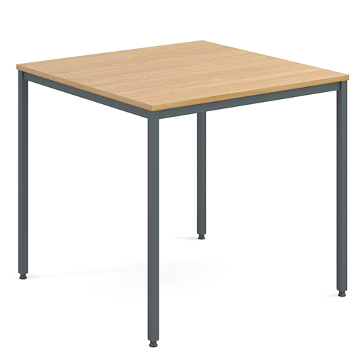 Rectangular-Flexi-Classroom-Table-with-Graphite-Frame-800mm-Square-Oak-Nobis-Education-Furniture