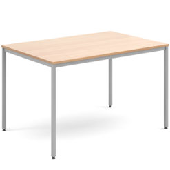 Rectangular-Flexi-Classroom-Table-with-Silver-Frame-1200-x-800-Beech-Nobis-Education-Furniture