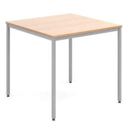 Rectangular-Flexi-Classroom-Table-with-Silver-Frame-800mm-Square-Beech-Nobis-Education-Furniture